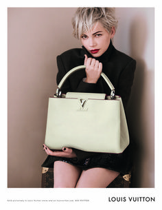 Michelle Williams photographed by Peter Lindbergh for Louis Vuitton's Fall 2013 handbag campaign.