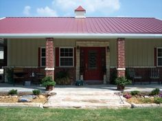 I for sure want brick at the bottom of the metal house!! I love this look just prob need a lil bigger