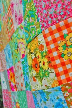 Stunning colours love the old fabric s