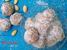 #τρουφάκια #υγιεινά #δαμάσκηνα #ινδοκάρυδο #plumtruffles #plums #coconut #truffles #nostimiesgiaolous Dog Food Recipes, Cereal, Food And Drink, Sweets, Sugar, Chocolate, Breakfast, Desserts, Tv Stands