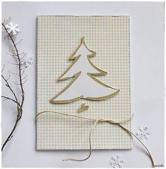 misha_cards / ❄Vianočná pohľadnica so stromčekom❄