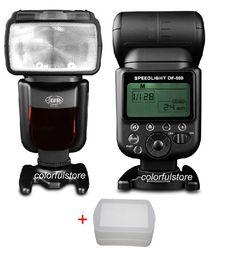 >> Click to Buy << DF-600 GN58 Wireless Flash Light Speedlight Flashgun Gun for Canon Nikon Pentax Fuji film Samsung Olympus Panasonic SLR+Diffuser #Affiliate