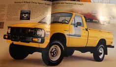 80 Pickup Ad Toyota 4x4, Toyota Trucks, Toyota Hilux, 4x4 Trucks, Toyota Tacoma, Cool Trucks, Toyota Land Cruiser, Tractors, Jeep
