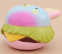 Vlampo cute colorful rabbit burger scented squishy