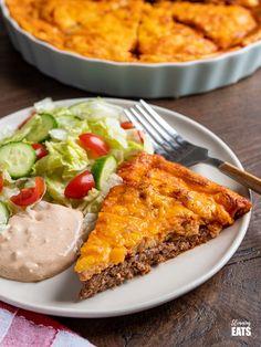 Cheeseburger Quiche | Slimming Eats - Weight Watchers and Slimming World Recipes Slimming Eats, Slimming World Recipes, Quiche, Quiches