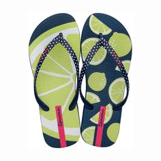 The new Frutas flip flip will add the tropical style you're looking for this season. It's comfy foot bed comes with a unique summer fruit design Ipanema Flip Flops, Tropical Style, Clothes Horse, Flipping, Blue Green, At Least, Pairs, Sandals, Summer Fruit