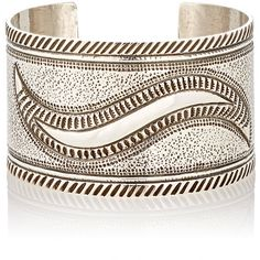 Mahnaz Collection Vintage Women's Sterling Silver Wide-Band Cuff-Color (4.095 BRL) ❤ liked on Polyvore featuring jewelry, bracelets, colorless, sterling silver bangles, cuff jewelry, clear crystal jewelry, abstract jewelry and vintage sterling silver jewelry