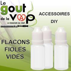 Flacons Fioles, Bouteille vide de 10 ML pour la préparation de vos E-Liquide.