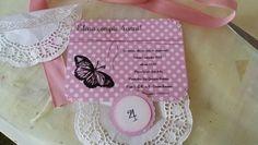 Butterfly Party invitations handmade by Pandora Handmade & Eventi