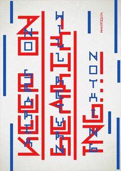 tipografía geométrica de Fermín Guerrero