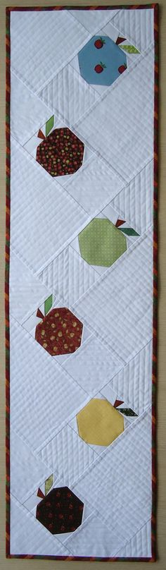 """""""Apples ... finished!"""" Artist is Helena of Transfigurations blog - Cute runner, Helena!"""