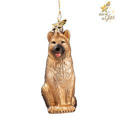 Schäferhund - Exklusiver Baumschmuck aus Glas von Käthe Wohlfahrt® Des Menschen bester Freund Poesie in Glas® - kristallbesetzter Messingkomet am Aufhänger schöne Geschenkidee für alle Hundefreunde mi