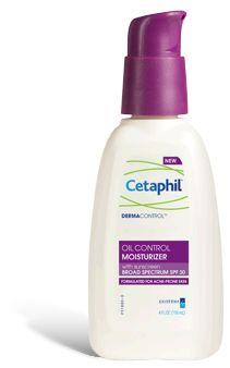 DERMACONTROL TM Oil Control Moisturizer SPF 30  -Use after cleansing with Cetaphil® DERMACONTROL™ Oil Control Foam Wash 4oz. $9.87 (walmart)