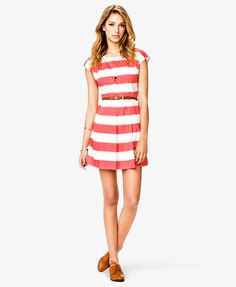 Classic Striped Woven Dress | FOREVER 21 - 2080667322