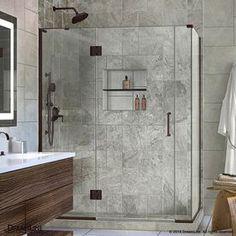 Dreamline Unidoor-X 58-In To 58-In W Frameless Oil Rubbed Bronze Hinged Shower Door E3280634l-06