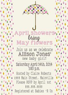 Baby shower Invitations (digital file)
