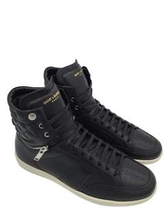 cbb7f56549254 SAINT LAURENT SIGNATURE COURT CLASSIC SL 34H MOTOCROSS SNEAKER IN BLACK  LEATHER. Leather High TopsBlack ...