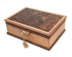 Romantic secret eco friendly wooden jewelry box with lock and   Etsy Jewelry Box With Lock, Small Jewelry Box, Wooden Jewelry Boxes, Wooden Hinges, Engraved Jewelry Box, Watch Box, Jewellery Storage, Keepsake Boxes, Gifts For Wife