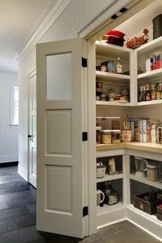 53 Mind-blowing kitchen pantry design ideas 53 Mind-blowing Kitchen Pantry Design Ideas – I am so jealous of every single one of these pantries! The post 53 Mind-blowing kitchen pantry design ideas appeared first on Homemade Crafts. Kitchen Pantry Design, Diy Kitchen Storage, Pantry Storage, New Kitchen, Kitchen Ideas, Kitchen Pantries, Pantry Shelving, Kitchen Decor, Kitchen Cabinets