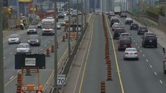 Drivers get help with extra lane open on westbound Gardiner