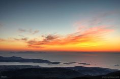 Sunset over the Aegean by Elmxm