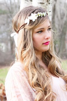 I definitely want a crown of flowers in my hair on my wedding day.