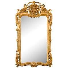 "Flourishing Gold 21 1/2"" x 38"" Wall Mirror"