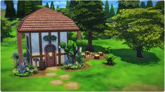 The Sims 4 | Speed Build | 4x6 Forest Starter #Little forest hut #Forest Home #Outdoor Retreat #Sims Building #Starter Home #Small House #1 bedroom Home