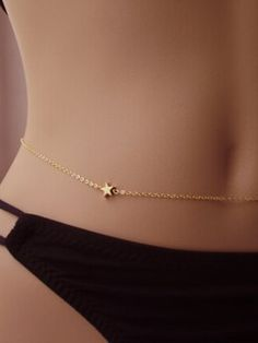 Shop Golden Star Fine Belly Chain from choies.com .Free shipping Worldwide.$1.9