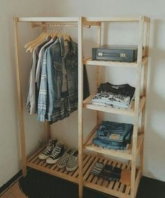 25 brilliant diy shoe storage, shoe racks and organizers youll want to make today 21 25 brilliant diy shoe storage, shoe racks and organizers youll want to make today 21 Wooden Wardrobe, Diy Wardrobe, Wooden Closet, Wooden Clothes Rack, Pallet Closet, Pallet Wardrobe, Hanging Clothes Racks, Clothes Shelves, Diy Clothes Rack