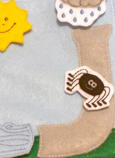 Itsy bitsy spider quiet book page - QB125