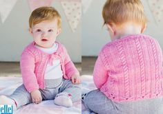 Tie Cardigan Brand: Elle Count: Double Knit Yarn: Babykins Size From: Birth Size To: 24 months Baby Patterns, Knitting Patterns Free, Free Pattern, Knitting Yarn, Baby Knitting, Double Knitting, Crochet For Kids, Needles Sizes, Baby Kids