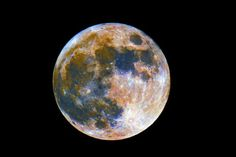 A Colorful look at our own Moon
