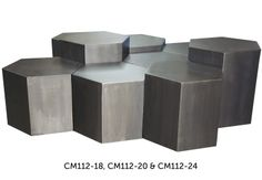 :: CFC :: Cluster of Panel side tables in varying heights