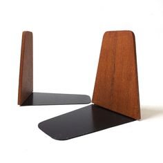 vintage 1960's bookends teak wood danish by RecycleBuyVintage
