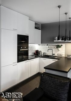 Design ideas for a contemporary kitchen in Hong Kong. Best Mia Cucina Home Kitchen Design of Love Winner: Kwan Lam (Hong Kong) Description of the Winning D Home Kitchens, Kitchen Design, Kitchen Dining Room, Kitchen Decor, Modern Kitchen, Kitchen Room Design, Kitchen Interior, Kitchen Layout, Black Kitchen Countertops