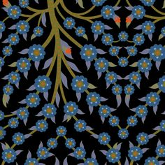 Tree of Life 736c fabric by muhlenkott on Spoonflower - custom fabric