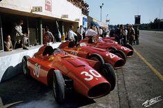 1956 GP de Europa (Monza) Lancia-Ferrari (© The Cahier Archive/ www.f1-photo.com)