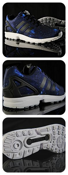 The galactic style of the adidas Originals ZX Flux creates a shoe of infinite possibilities.