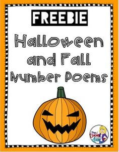 Freebie! Halloween and Fall number poems! Perfect for October! Part of a free eNook by Upper Elementary Snapshots.