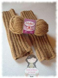 Ateliê de Mimos da Quelsfs: Polaina em tricô com Mollet- Receita fácil e rápida - Ideal para iniciantes