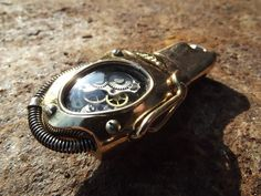 "USB Flash memory  stick drive 16Gb  ""CLOCKer 007"" steampunk digital accessory (on request). $120.00, via Etsy."