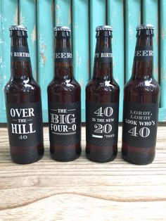40th Birthday Gift, Over the Hill gift, Custom Beer Bottle Labels, Cheers and Beers to 40 Years, Birthday Card, 40th Birthday Gift for Man by PaprikaPaperie on Etsy https://www.etsy.com/listing/462543207/40th-birthday-gift-over-the-hill-gift