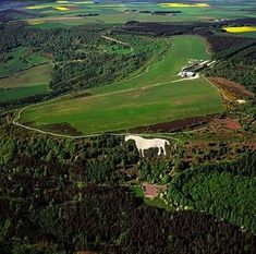 An poster sized print, approx mm) (other products available) - England - Aerial view, Kilburn White Horse, North Yorkshire - Image supplied by Ardea Wildlife Pets Environment - poster sized print mm) made in the UK Yorkshire Dales, Yorkshire England, North Yorkshire, Yorky, England And Scotland, England Uk, White Horses, English Countryside, Viajes