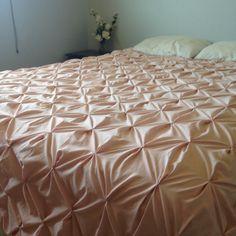 pintuck pink bedspread