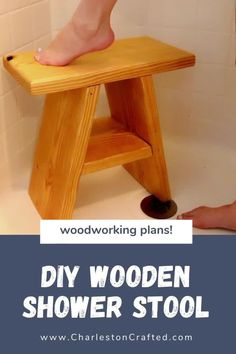 7 Phenomenal Home Decoration Styles Jaw-Dropping Ideas.Home Decor White Want to add a stool to your shower? It can be a place to sit shave your legs or just add some extra decor. Here are PDF printable woodworking plans that show the step by step tutorial of how to build this stool! #charlestoncrafted #woodworking #woodworkingplan