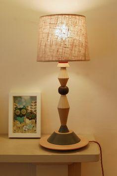 Turned Wood Lamp Base No.4 - Radiance