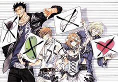 Tsubasa Reservoir Chronicle || There's some symbolism in this art... Let's see um... Kurogane's means no Tears(?), Syaoran's means no Time(?), Sakura's means no Wings/Feathers/Freedom(?), and Fai's means no Love(?)... At least that's what I think...
