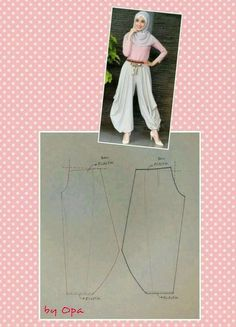 Ideas For Sewing Clothes Pants Costura Sewing Pants, Sewing Clothes, Barbie Clothes, Dress Sewing Patterns, Clothing Patterns, Pattern Dress, Fashion Sewing, Diy Fashion, Traditioneller Kimono