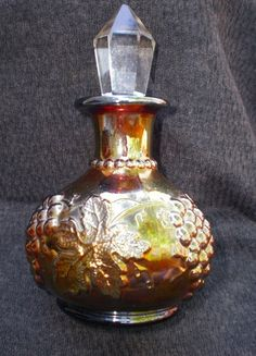 Dugan Grape and Cable Vintage Perfume Bottle Amber Purple Coloration | eBay